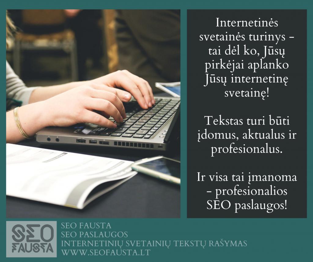 internetinės svetainė tekstų rašymas